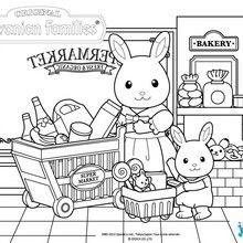 Coloriage : Au supermarché