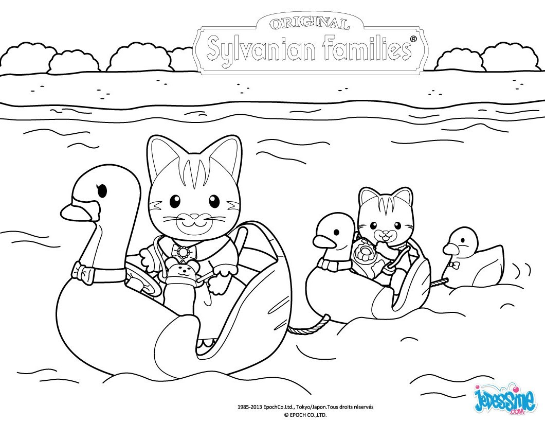 coloring page calico critters sylvanian families coloring pages