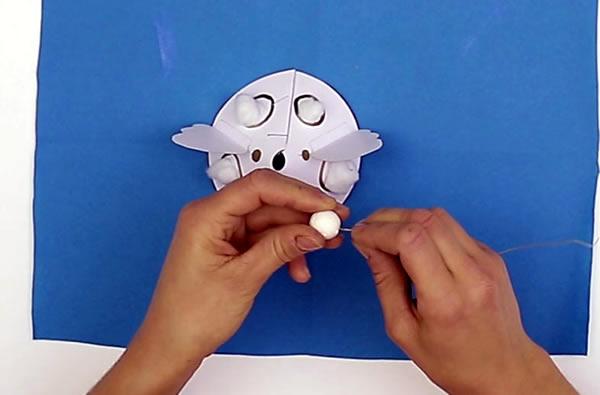 Fabriquer la tête de l'ange de Noël