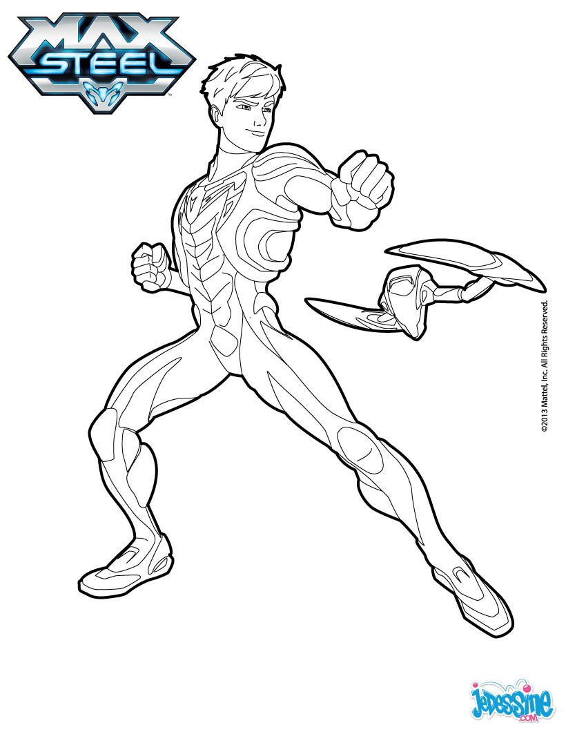 Coloriage : Max Steel à colorier