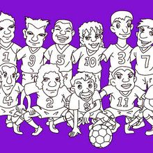 football, Coloriage EQUIPES DE FOOT