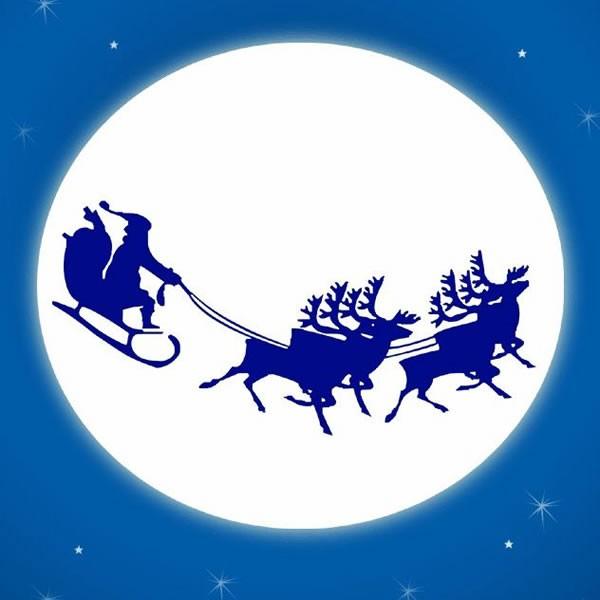 Jeux De Le Traineau Du Pere Noel Passe Devant La Lune Fr Hellokids Com