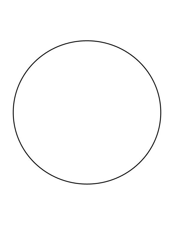 Patron de cercle à imprimer