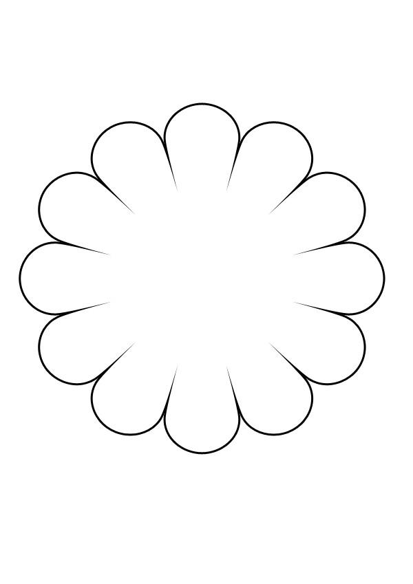 Patron de fleur à imprimer