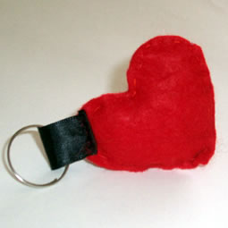 Le porte-clé coeur