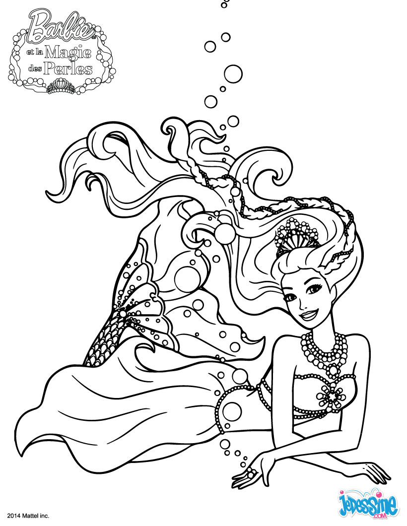 Coloriages la sir ne lumina - Barbie barbie sirene ...
