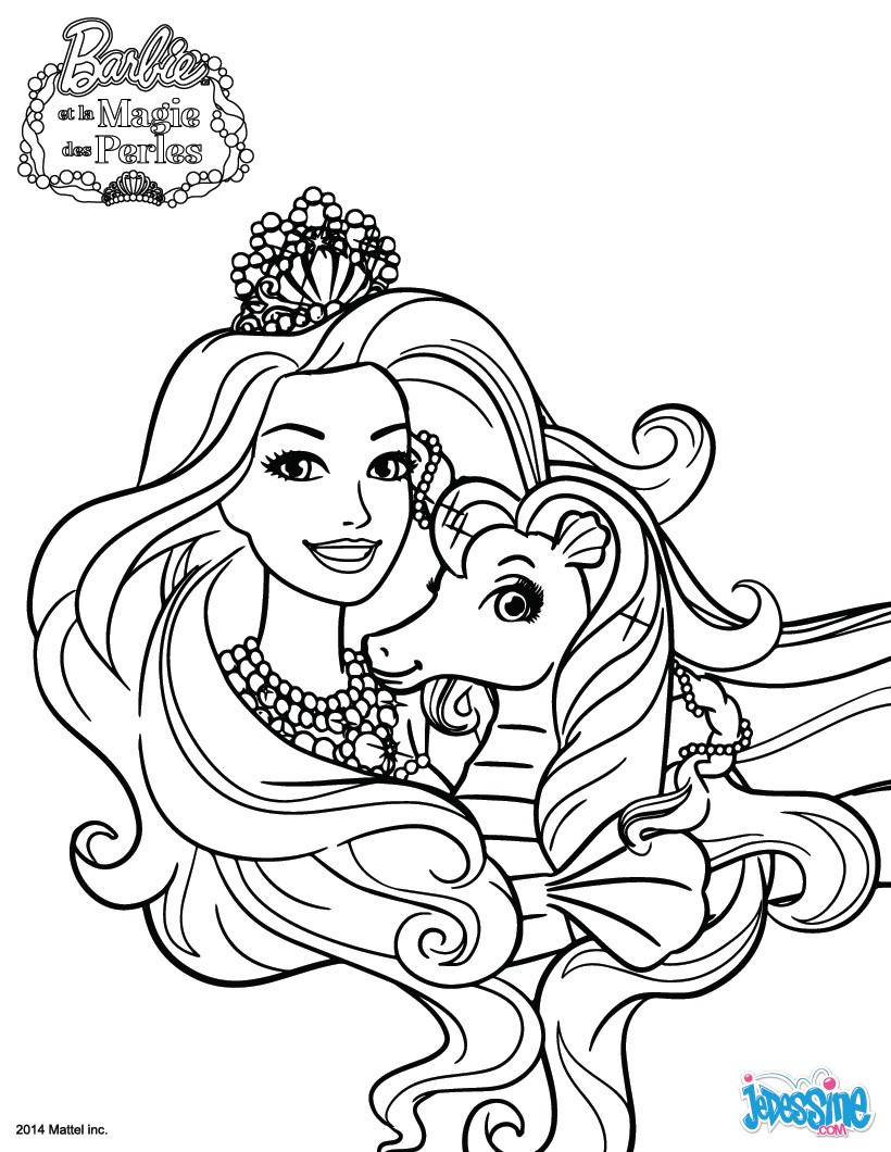 Coloriages lumina colorier - Barbie a colorier ...