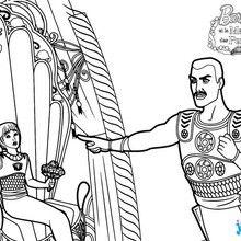 Coloriage Barbie : Le Prince Fergi et Caligo