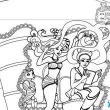 Coloriages barbie et ses soeurs au club hippique le - Coloriage travail ...