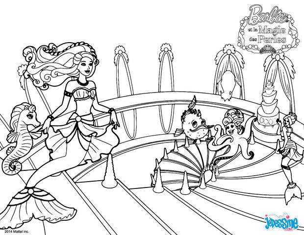 Coloriages lumina belle comme une princesse for Barbie the pearl princess coloring pages