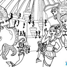 Coloriage Barbie : La salon de style de Lumina
