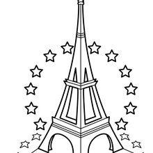 Tour Eiffel et étoiles de l'UE