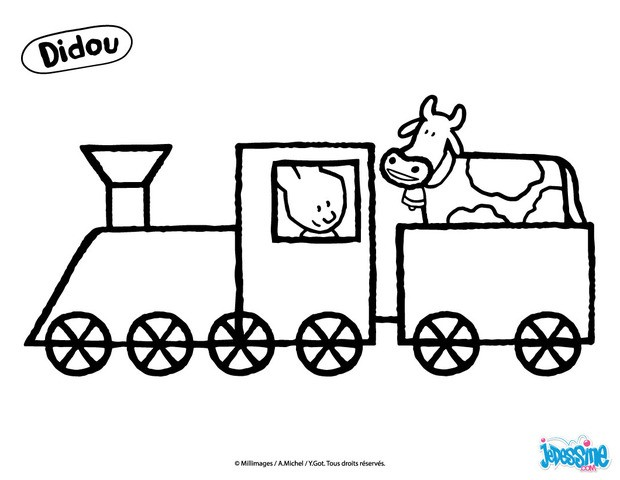 Coloriages didou conduit un train - Locomotive dessin ...