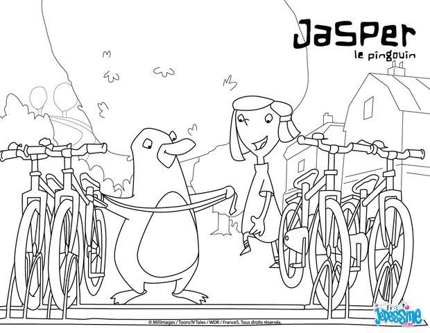 Coloriages emma et jasper au parc v los - Jasper le pingouin ...