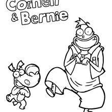 Coloriage : Corneil et Bernie qui dansent