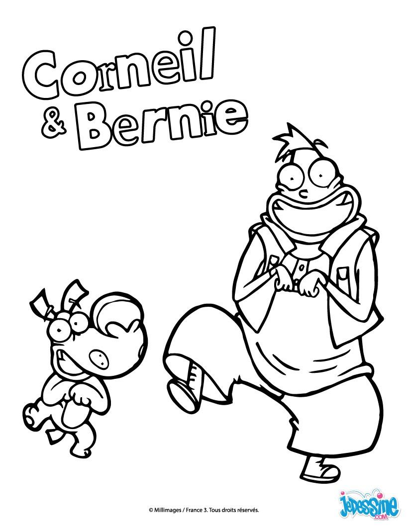 Coloriages corneil et bernie qui dansent - Dessin anime corneil et bernie ...