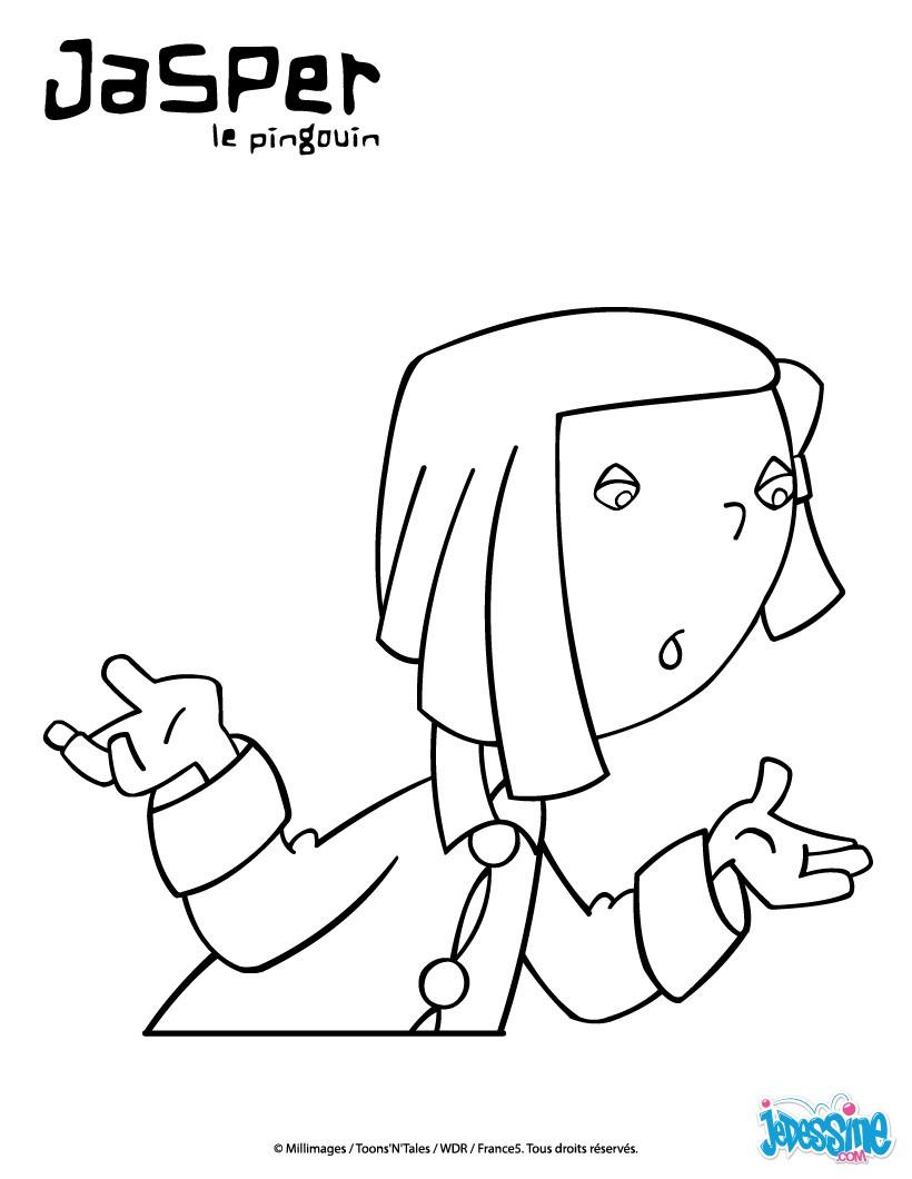 Coloriages emma interrogatrice - Coloriage minable le pingouin ...