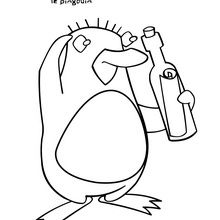 Coloriage : Bébé pingouin et le message de Jasper