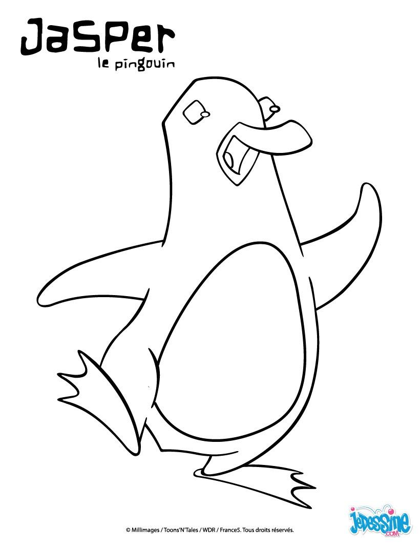 Coloriages jasper enjou - Jasper le pingouin ...