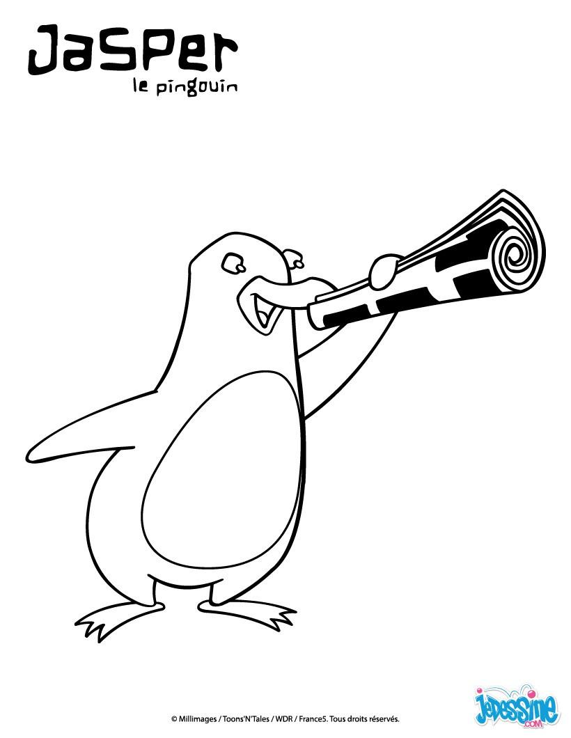 Coloriages jasper avec son journal - Jasper le pingouin ...