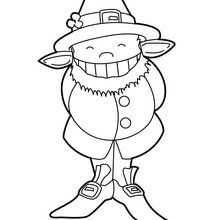 Coloriage : Leprechaun souriant