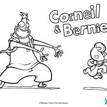 Coloriage : Corneil et Bernie souriants