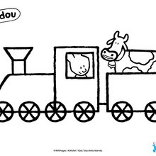 Coloriage : Didou conduit un train