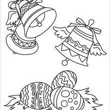 Coloriage : Cloches de Pâques