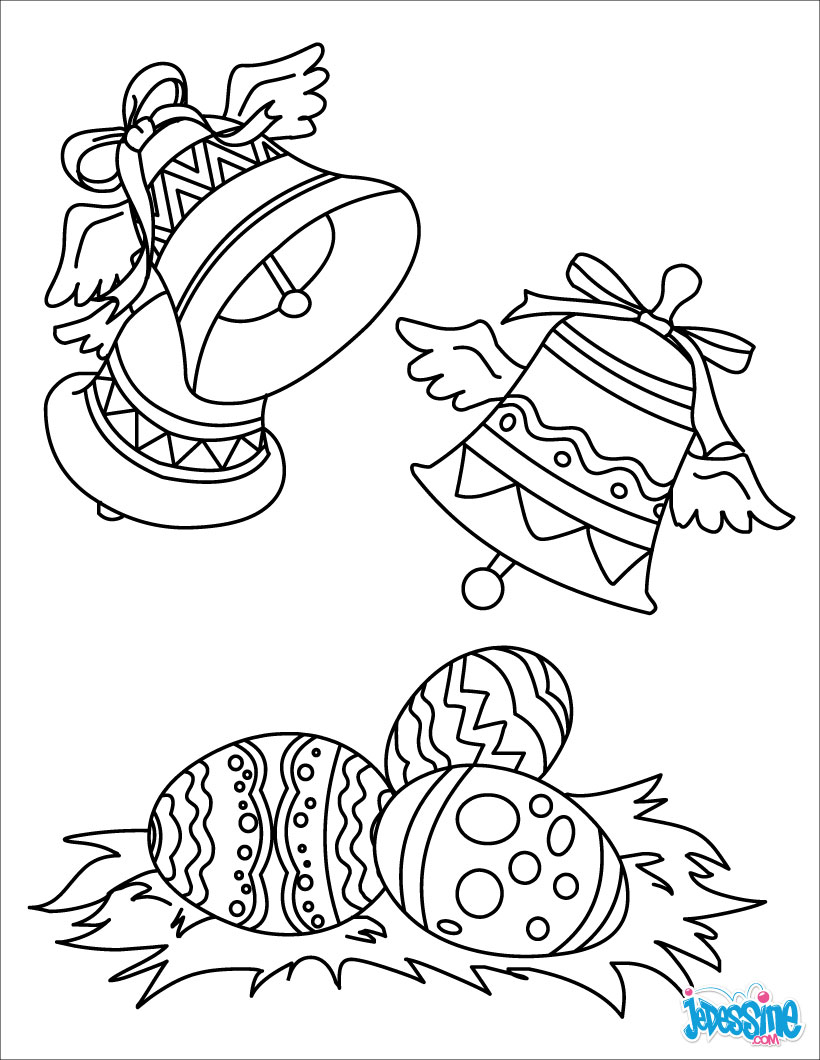 Coloriages cloches de p ques - Dessin de cloche ...