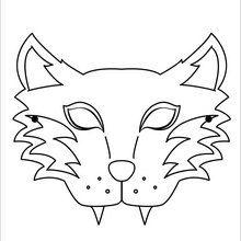 Masque à imprimer : Masque de loup