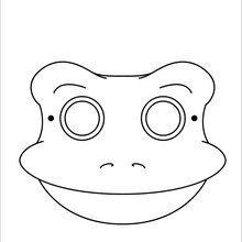 Masque à imprimer : Masque de grenouille