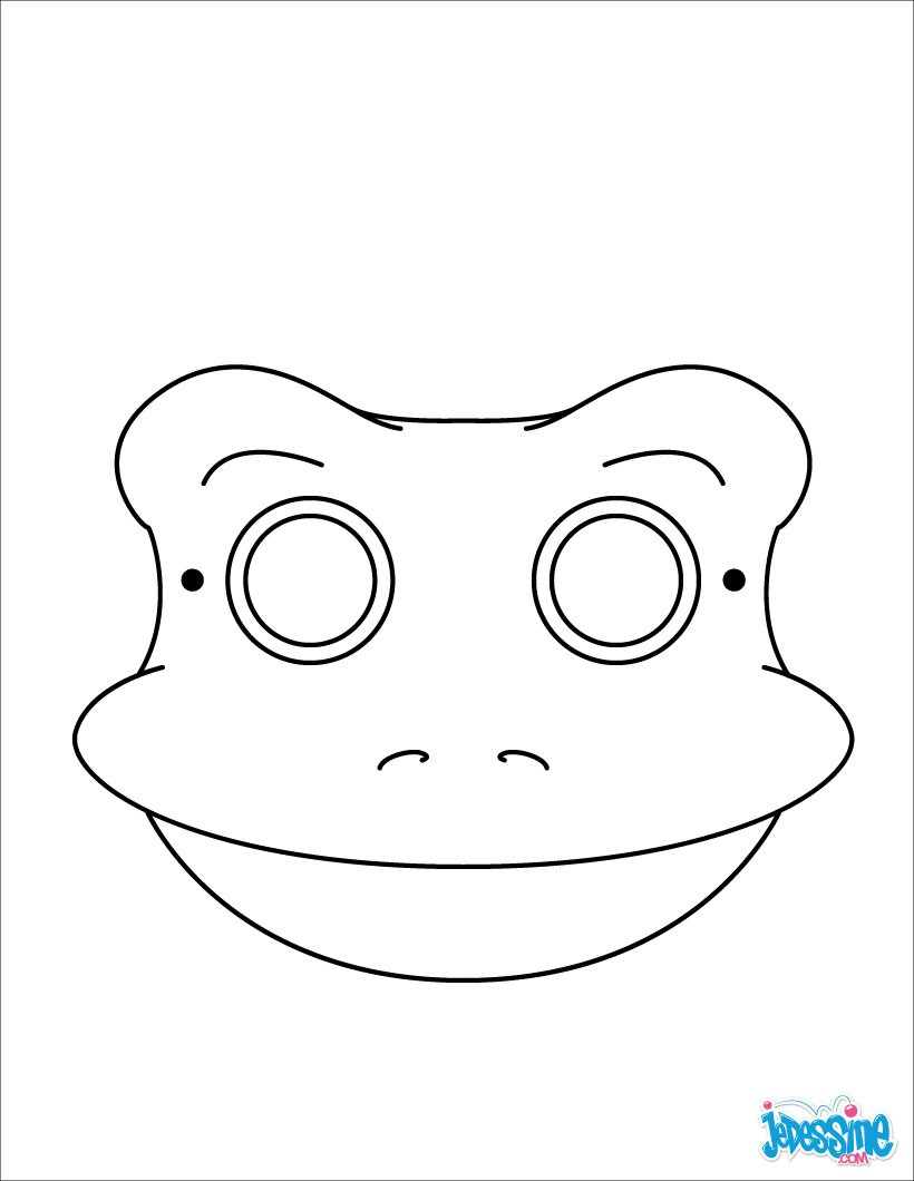 Activit s manuelles masque de grenouille for Lion mask coloring page