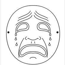 Masque à imprimer : Masque triste