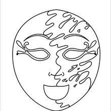Masque à imprimer : Masque joyeux