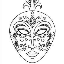 Masque à imprimer : Masque élégant