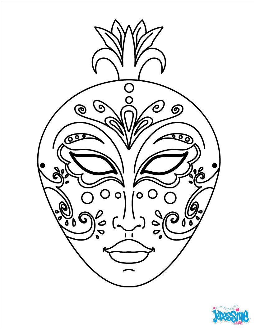 Activit s manuelles masque l gant for Printable african masks coloring pages