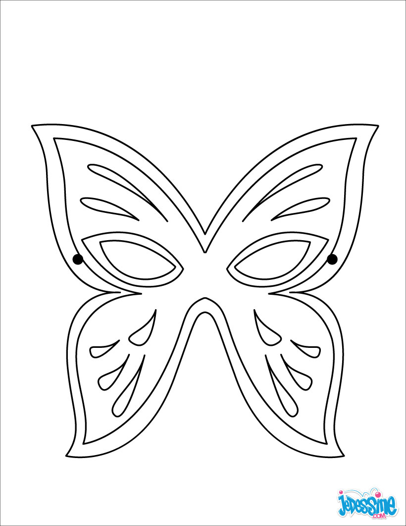 le masque dours masque papillon - Masque Colorier