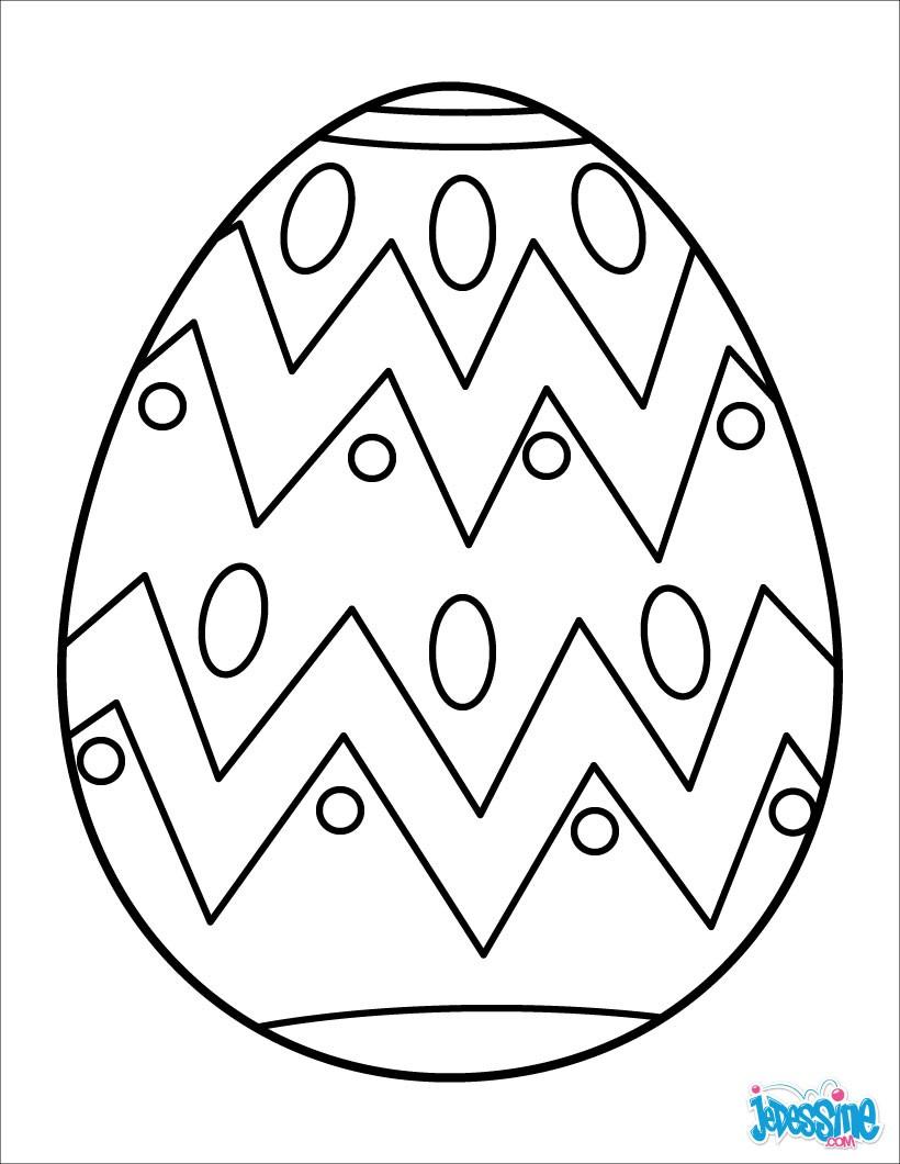 Exceptionnel Coloriage OEUF DE PAQUES - Coloriages - Coloriage à imprimer  JA18