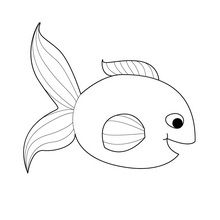 Coloriage : Poisson d'avril souriant