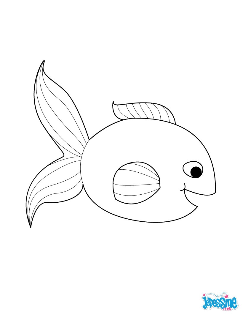 Coloriages poisson d 39 avril souriant - Dessin de poisson d avril ...
