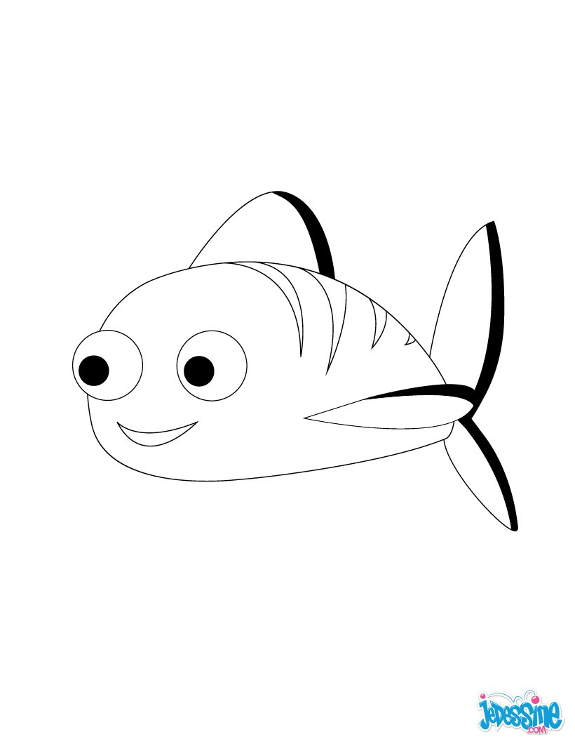 Coloriages petit poisson d 39 avril - Dessin poisson d avril rigolo ...
