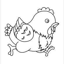 Coloriage : Poule de Pâques
