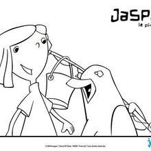 Coloriage : Emma et Jasper partent à la pêche