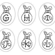 Coloriage : Lettres Lapins : G H I J K L