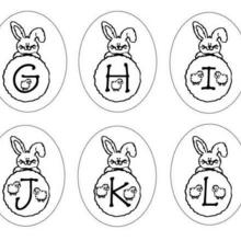 Lettres Lapins : G H I J K L