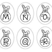 Coloriage : Lettres Lapins : M N O P Q R