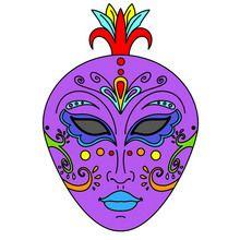 carnaval, Masques à colorier
