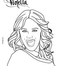 Coloriages portrait de violetta - Violetta en coloriage ...