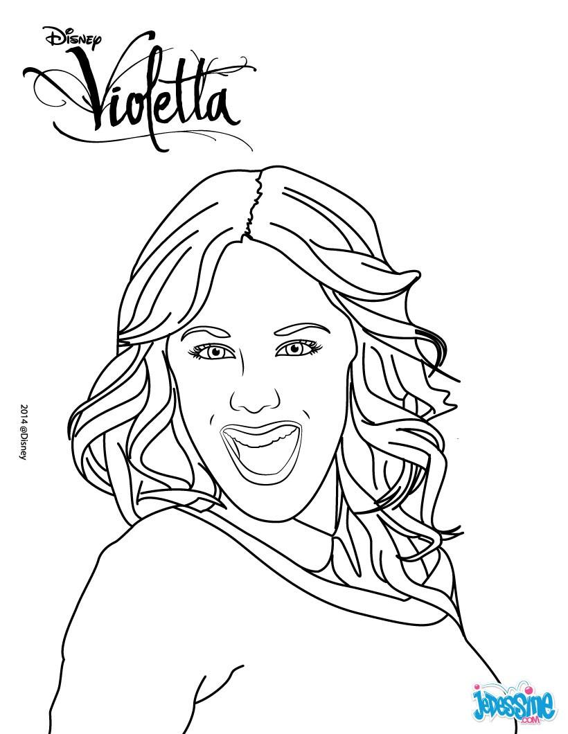 coloriages portrait de violetta frhellokidscom - Coloriage Violetta En Ligne