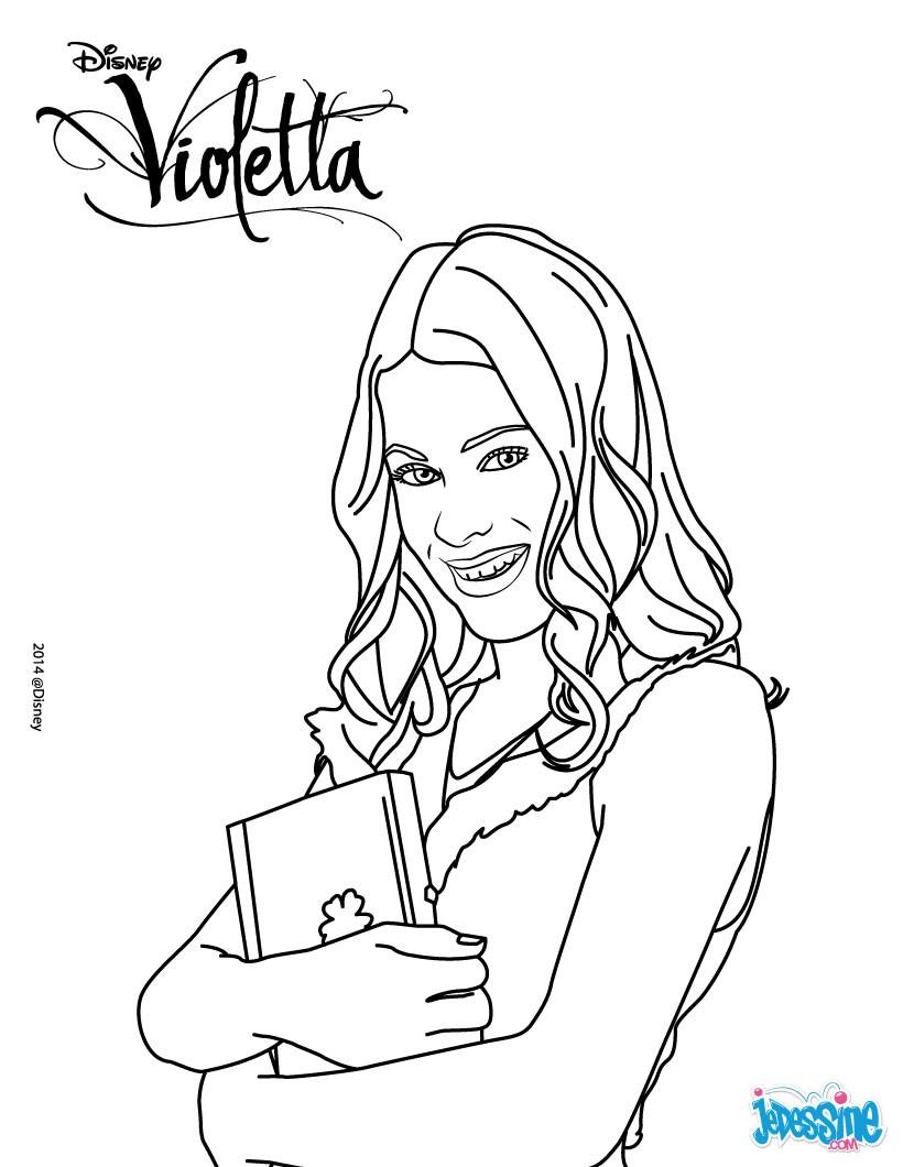 violetta coute de la musique coloriage violetta et son journal intime - Coloriage Violetta